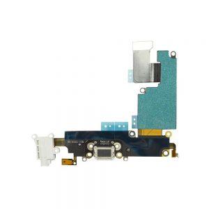 Kjøp iPhone 6 Plus Ladekontakt Og Audio Jack Flex Kabel - Hvit