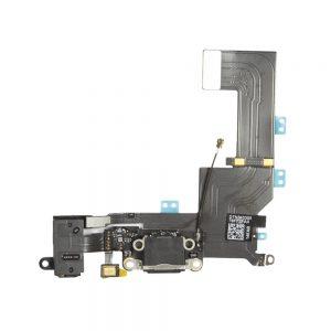 iPhone 5s Ladeport, Mikrofon, Audiojack Flex Kabel Svart