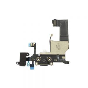 iPhone 5 Ladeport, Mikrofon og Audio jack Flex Kabel - Svart