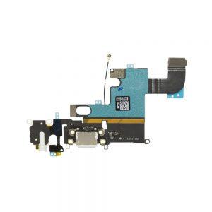iPhone 6 Ladeport, Mikrofon og Audio Jack Flex Kabel (Hvit)