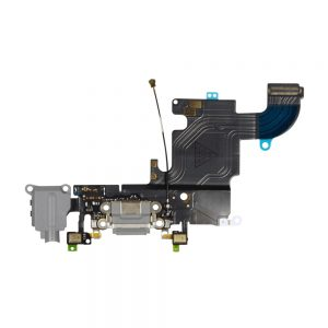 iPhone 6s Ladeport, Mikrofon og Audio Jack Flex Kabel (Grå)