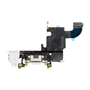 iPhone 6s Ladeport, Mikrofon og Audio Jack Flex Kabel (Hvit)
