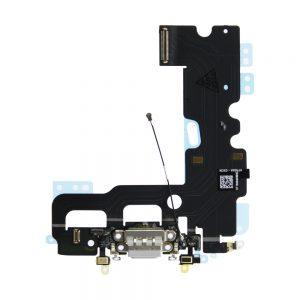 iPhone 7 Ladeport og Mikrofon Flex Kabel - Grå