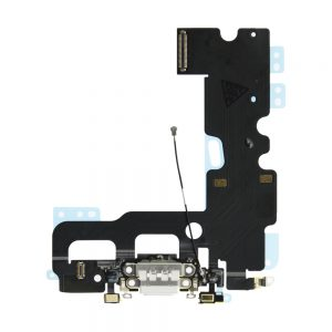 iPhone 7 Ladeport og Mikrofon Flex Kabel - Hvit