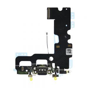 iPhone 7 Ladeport og Mikrofon Flex Kabel - Svart