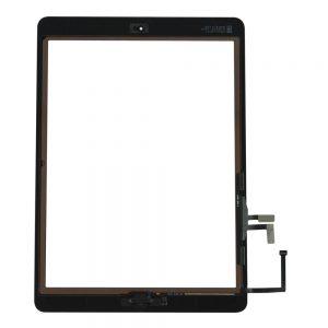 Kjøp iPad Air 1 Glass Og Touch Med Lim Og Hjem Knapp - Svart