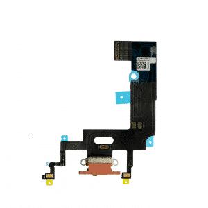 iPhone XR Ladeport Flex Kabel Korallrød